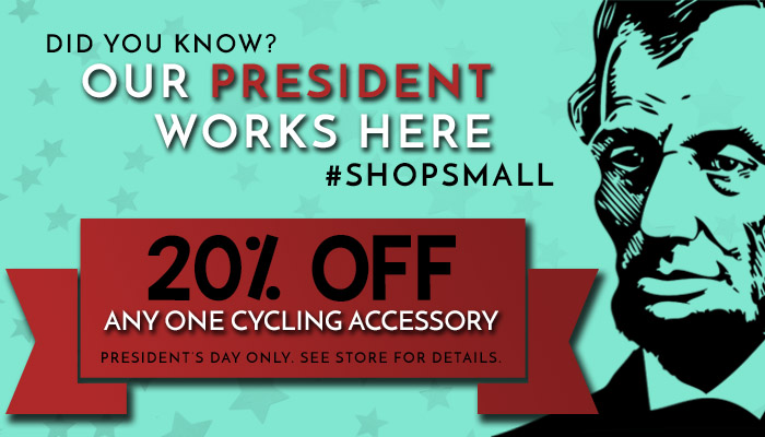 President's Day Offer at B&L Bike Shop