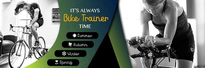 It's always bike trainer time